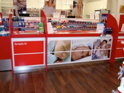 Pharmacy Select Counter Graphics